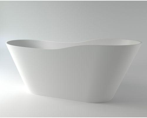 Ванна каменная Holbi Afrodita Solid Surface 161x68 белый матовый