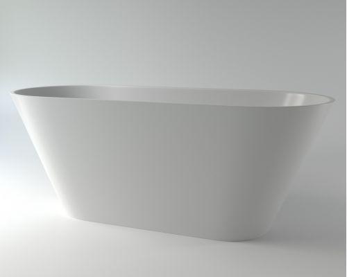 Ванна каменная Holbi Selena Solid Surface 161x68 белый матовый