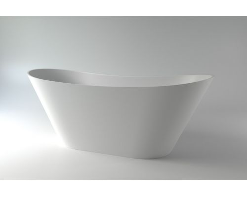Ванна каменная Holbi Afina Solid Surface 161x66 белый матовый