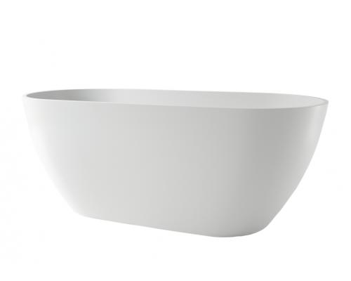 Ванна каменная Holbi Venus Solid Surface 170x80 белый матовый