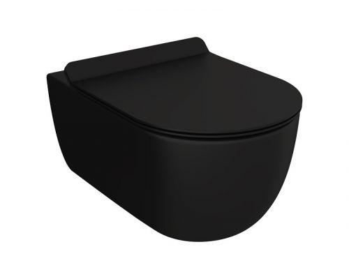 Унитаз подвесной Bocchi V-Tondo Compacto 1417-004-0129 черный матовый