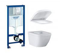 Комплект: инсталляция grohe 38772001 + унитаз Grohe Euro + крышка Soft Close