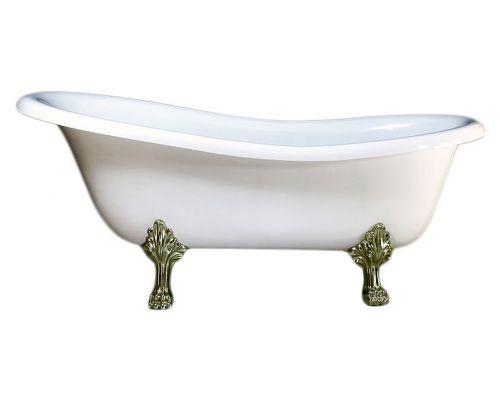 Ванна из искусственного камня Victoria+Albert Roxburgh brass