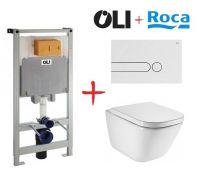 Комплект: инсталляция OLI80 +  унитаз Roca The Gap (белая кнопка)