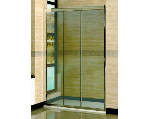 Душевая дверь в нишу RGW Classic CL-11 145х185 профиль хром, стекло шиншила