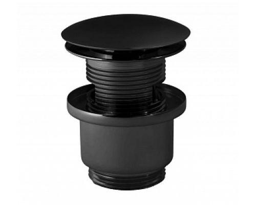 Донный клапан для раковины Paffoni ZSCA050NO click-clack черный матовый