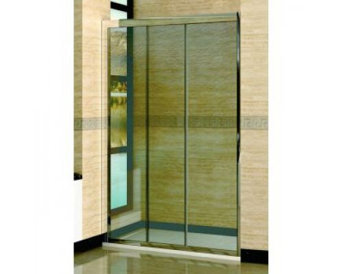 Душевая дверь в нишу RGW Classic CL-11 140х185 профиль хром, стекло шиншила