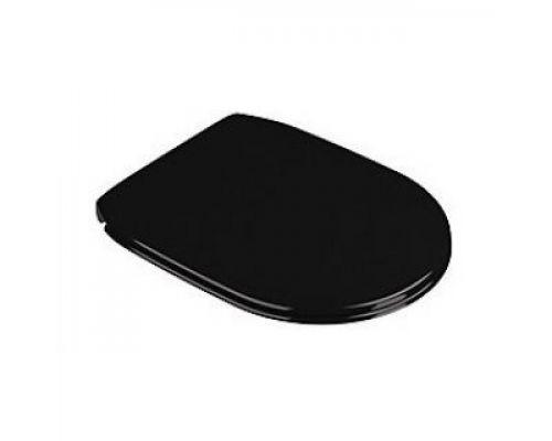 Крышка-сиденье Catalano Canova Royal черная, с микролифтом, петли хром