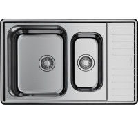 Кухонная мойка Omoikiri Sagami 79-2-IN нержавеющая сталь/нержавеющая сталь 4993447