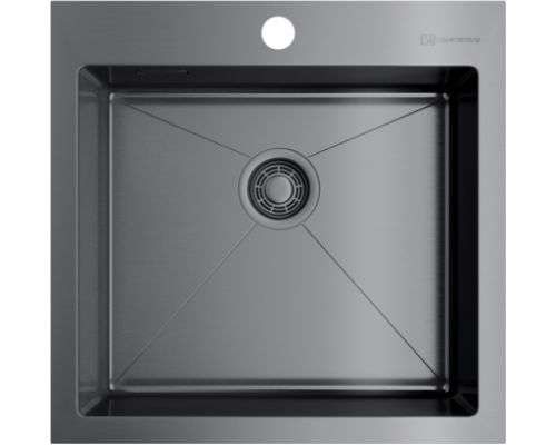 Мойка кухонная Omoikiri Akisame 51-GM 4973440 вороненая сталь