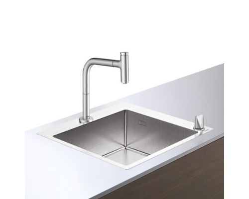 Кухонная комбинация Hansgrohe 450, C71-F660-03, смеситель хром