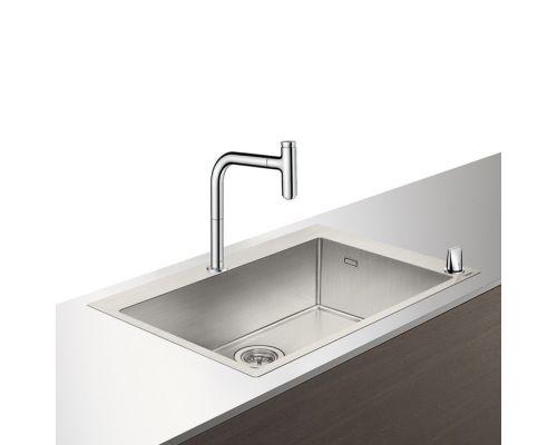 Кухонная комбинация Hansgrohe 660, C71-F660-08, смеситель под сталь