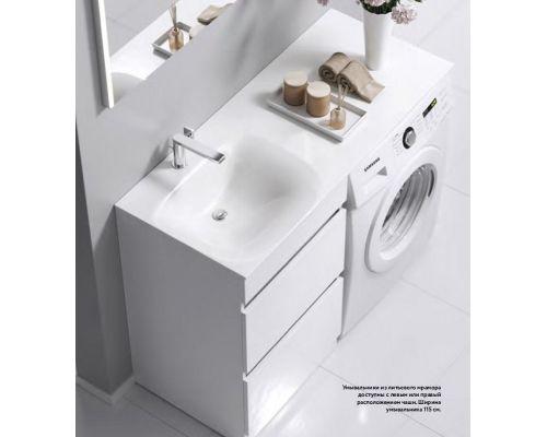 Раковина Aqwella Form FOR.11.04.D-L/R, 115 см для установки над стиральной машиной