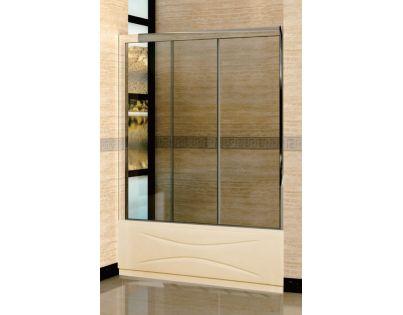 Шторка на ванну RGW Screens SC-41 1500x1500 стекло шиншила