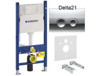 Инсталляция для унитаза Geberit Duofix Delta 458.126.25.21 c кнопкой смыва
