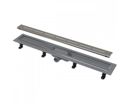 Душевой лоток AlcaPlast APZ18 850 Simple, со стальным бортиком и решеткой