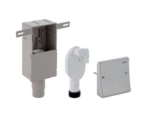 Сифон для раковины Geberit 152.232.00.1 внутристенный для стиральной/посудомоечной машины, с коробкой, крышка из нержавеющей стали