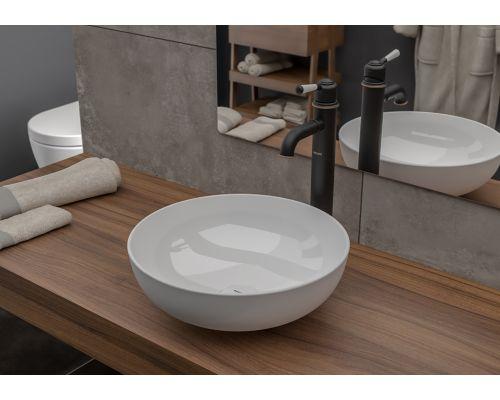 Раковина Bocchi 1494-001-0125, белая матовая 38x38 см