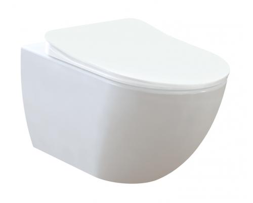 Унитаз подвесной Free безободковый, белый, 1с, без сидения, FE322-11CB00E-0000