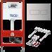 Комплект TECEbase kit для установки подвесного унитаза 9.300.434 кнопка сталь нержавеющая