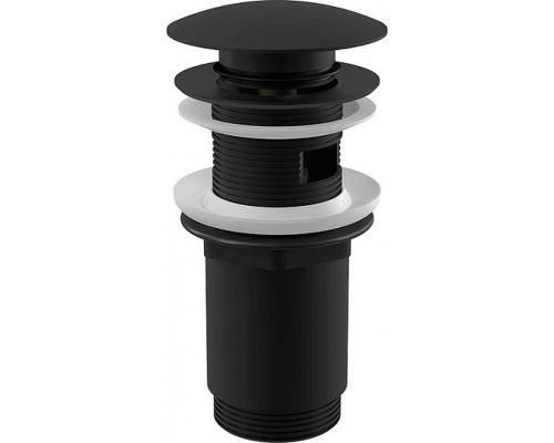 Донный клапан для раковины AlcaPlast A392 черный