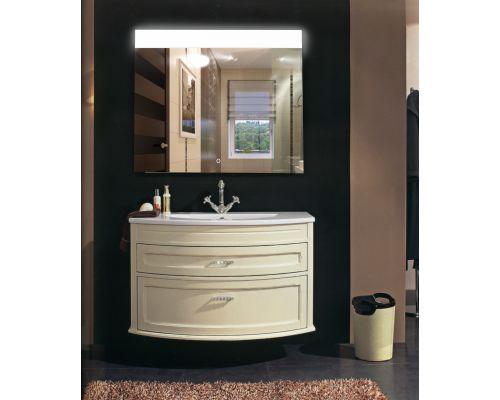 Зеркало Континент Bianco LED 800x600
