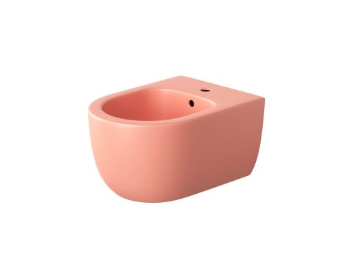 Биде подвесное Bocchi V-Tondo Compacto 49 см 1487-032-0120, розовое матовое