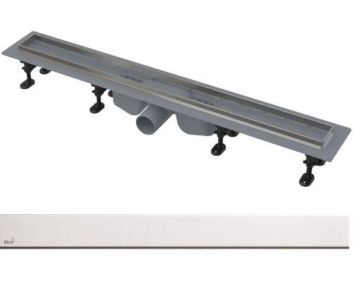 Душевой лоток AlcaPlast APZ22-850 с решеткой SOLID-850 и порогами из нержавеющей стали