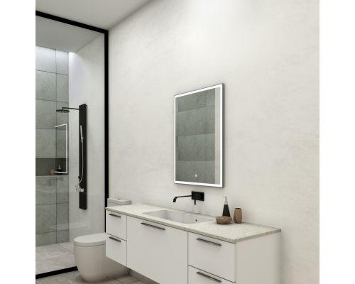 Зеркало Континент Frame Silver LED 600x800