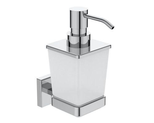 Ideal Standard IOM Square Диспенсер для жидкого мыла для настенного монтажа, матовое стекло