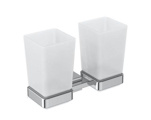 Ideal Standard IOM Square 2 стакана с двойным держателем, матовое стекло