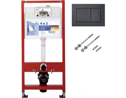 Комплект TECEbase kit для установки подвесного унитаза 9.400.407 кнопка черная матовая