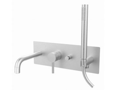 Встраиваемый смеситель для ванны с душем (нерж. сталь) Paffoni Light LIG001ST
