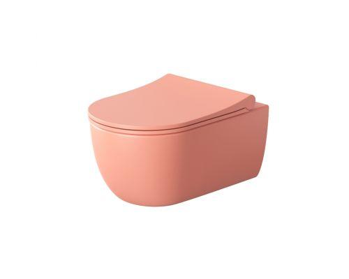 Унитаз подвесной Bocchi V-Tondo 1416-032-0129 розовый матовый