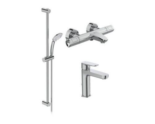 Промо набор для ванной Ideal Standard Ceratherm T100 BC985AA, с термостатическим смесителем