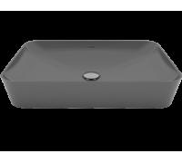 Умывальник Ultra прямоугольный на столешницу 40*60 см, антрацит матовый, UL060-00AM00E-0000