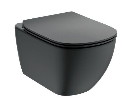 Унитаз подвесной Ideal Standard Tesi Aquablade T0079V1 черный матовый