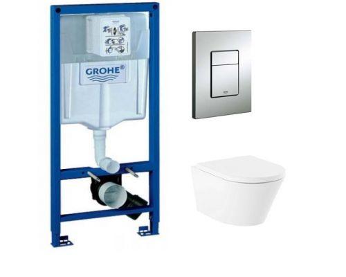 Комплект: инсталляция grohe 38772001 + унитаз Lavinia Boho Biore Rimless 3304003R