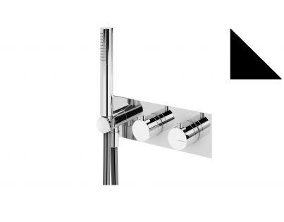 Встраиваемый смеситель термостатический для ванны с душем (черный матовый) Bruma 167 440 1NS