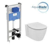 Промо комплект:  инсталляция с унитазом Ideal Standard Connect Aquablade E211601