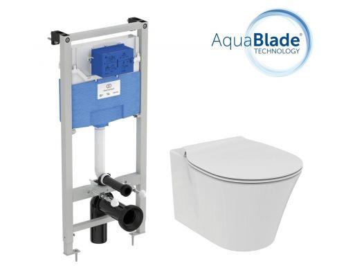 Промо комплект:  инсталляция с унитазом Ideal Standard Air Connect Aquablade E212101