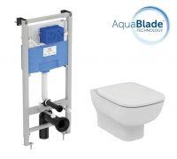Промо комплект:  инсталляция с унитазом Ideal Standard Esedra Aquablade T386401