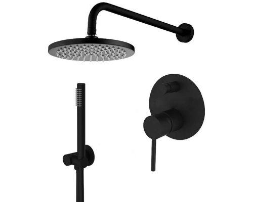 Система скрытого монтажа для душа Paffoni Light (черный матовый)