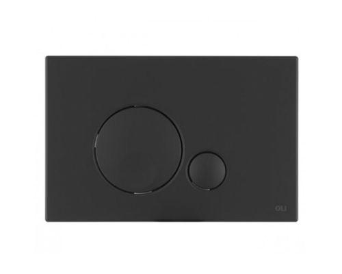 Кнопка смыва механическая OLI Globe 152952 черная soft-touch