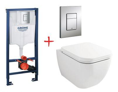 Комплект: инсталляция grohe 38772001 + унитаз Lavinia Boho One 33020020