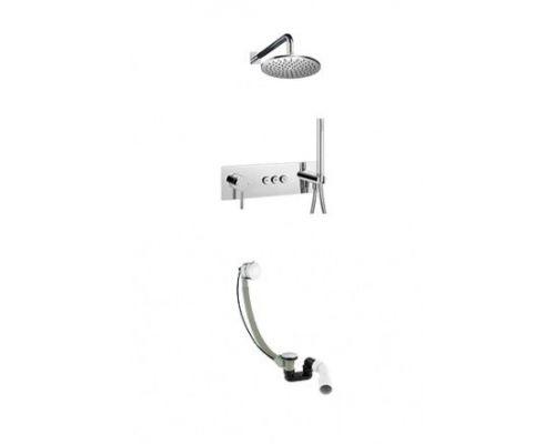 Душевая система Omnires Y GoClick SYSY32GCCR для ванны, скрытого монтажа, хром