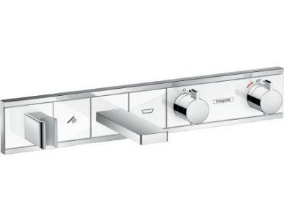 Смеситель для ванны и душа Hansgrohe RainSelect 15359400, 2 потребителя, термостатический, белый/хром