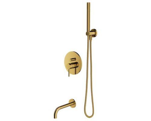 Душевая система Omnires Y SYSYW01GL для ванны, скрытого монтажа, золото