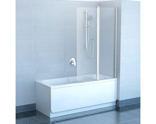 Шторка для ванны Ravak CVS2-100 L белый+транспарент