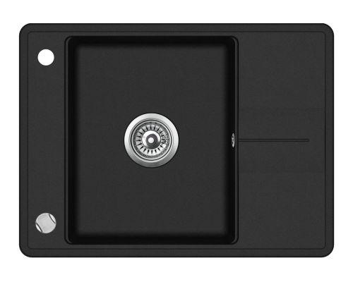 Кухонная мойка AquaSanita BELLA SQB102 (черный металлик)